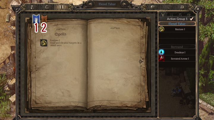 Spellbook (accessed from party management window) has all available abilities that are known to a given character - Character creation and progression - Basics - SpellForce 3 Game Guide