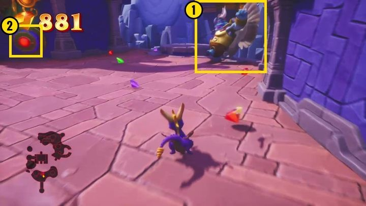 After you defeat the rhynoc, you can talk to the creature standing nearby - Cloud Spires | Spyro: Year of the Dragon Walkthrough - Sunrise Spring - Spyro Reignited Trilogy Guide