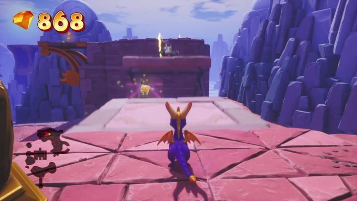 You enter the area, from which you can jump to another gate - Cloud Spires | Spyro: Year of the Dragon Walkthrough - Sunrise Spring - Spyro Reignited Trilogy Guide