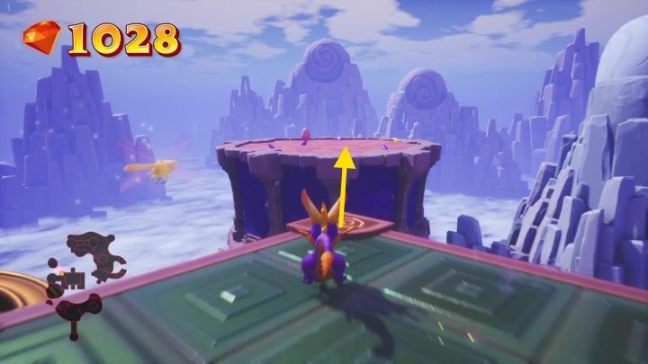 Finally, you have to return to the start of this level - Cloud Spires | Spyro: Year of the Dragon Walkthrough - Sunrise Spring - Spyro Reignited Trilogy Guide