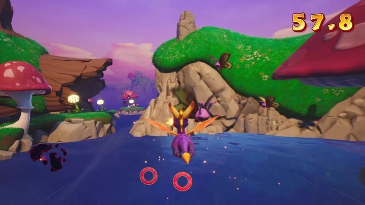 This challenge is very simple since everything has been packed into a relatively small area - Mushroom Speedway | Spyro: Year of the Dragon Walkthrough - Sunrise Spring - Spyro Reignited Trilogy Guide