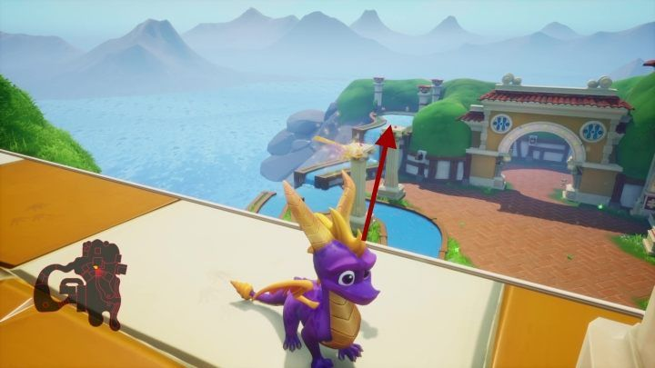 You can reach the columns by jumping from the same tower you climbed to get the previous egg - Eggs - Secrets and mysteries - Spyro Reignited Trilogy Guide