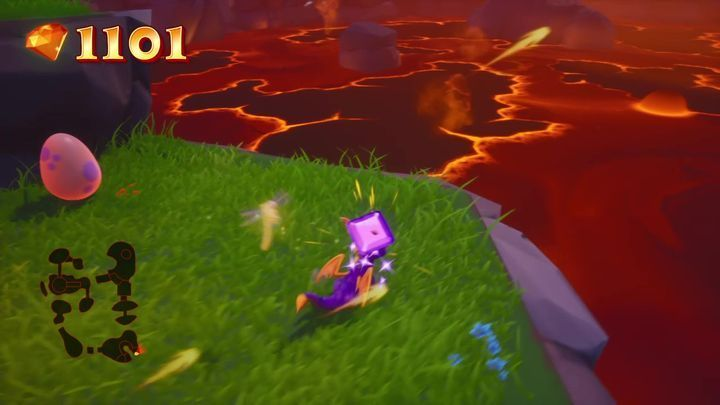 This is the first egg in this location - Eggs - Secrets and mysteries - Spyro Reignited Trilogy Guide