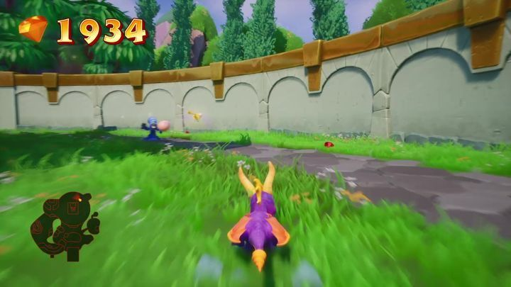 There is a thief running around the building where Sgt - Eggs - Secrets and mysteries - Spyro Reignited Trilogy Guide