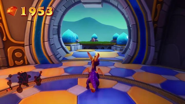 After jumping from the first room right behind the bridge, you will reach a nearly identical room - Eggs - Secrets and mysteries - Spyro Reignited Trilogy Guide