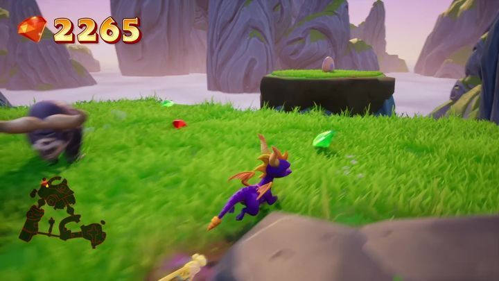 Right next to the entrance to the second location, you will find a small island with the first egg - Eggs - Secrets and mysteries - Spyro Reignited Trilogy Guide