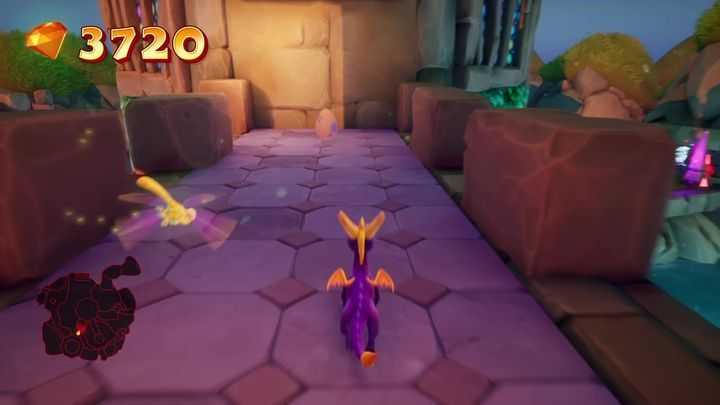 Jump from the same platform on which you have found the previous egg to another ledge - Eggs - Secrets and mysteries - Spyro Reignited Trilogy Guide