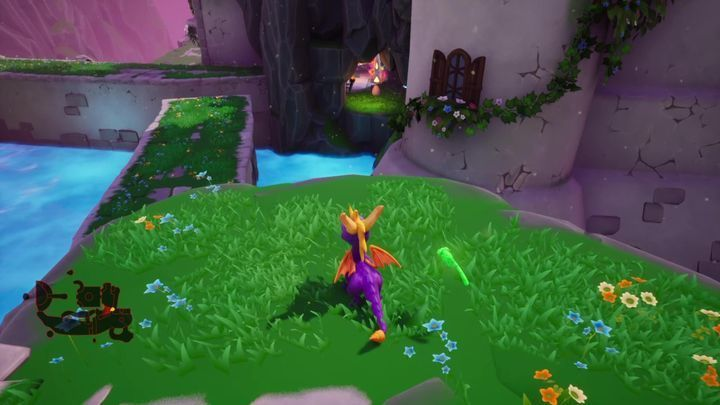 This egg can be found by the cave entrance (the cave is located by the platforms) - Eggs - Secrets and mysteries - Spyro Reignited Trilogy Guide