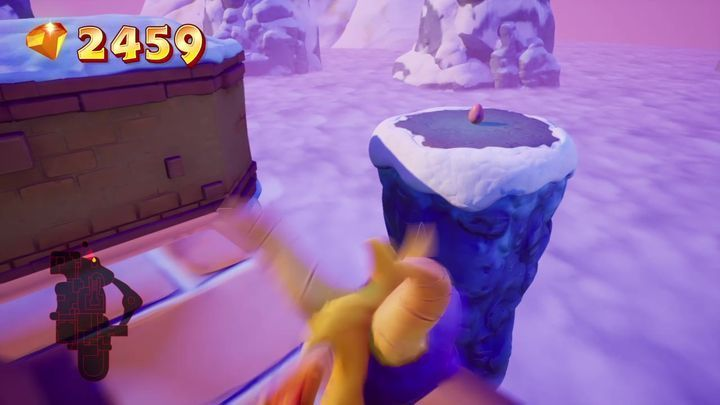 Freeze the penguin standing by the second defense tower - Eggs - Secrets and mysteries - Spyro Reignited Trilogy Guide