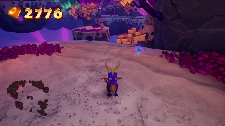 After you leave the building, turn right to find the island with the egg - Eggs - Secrets and mysteries - Spyro Reignited Trilogy Guide