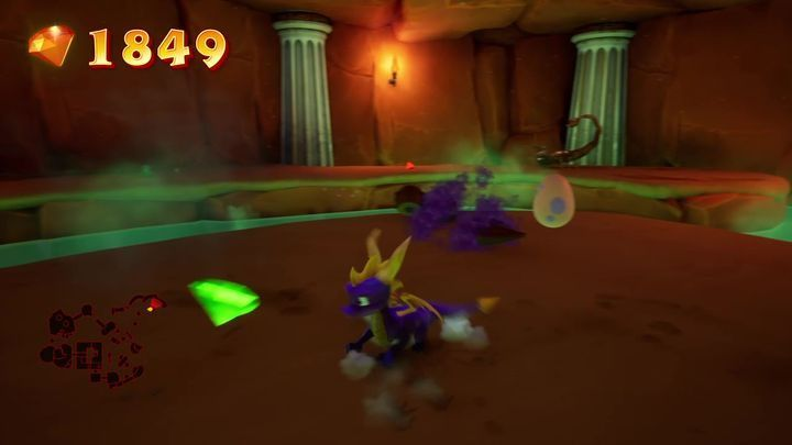 A cave is opposite the hand - Eggs - Secrets and mysteries - Spyro Reignited Trilogy Guide