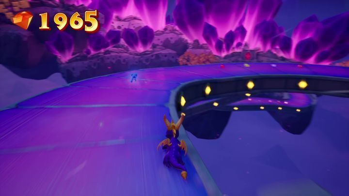 By going to the right of the wizard, you will reach an island with a teleport on it, use it and you will be transported to a portal meant for Bentley - Crystal Islands | Spyro: Year of the Dragon Walkthrough - Midnight Mountain - Spyro Reignited Trilogy Guide