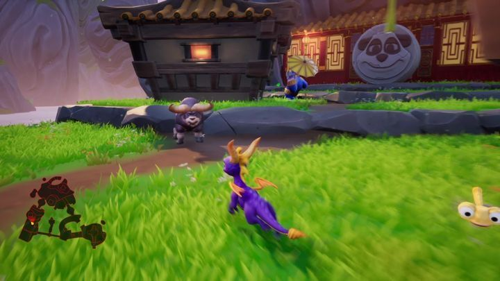 You will reach a sizable clearing - Bamboo Terrace | Spyro: Year of the Dragon Walkthrough - Midday Gardens - Spyro Reignited Trilogy Guide