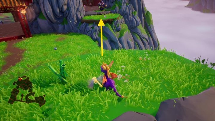 Additionally, you will also find a staircase behind one of the rocks that will lead you to a niche, where you will find another egg - Bamboo Terrace | Spyro: Year of the Dragon Walkthrough - Midday Gardens - Spyro Reignited Trilogy Guide