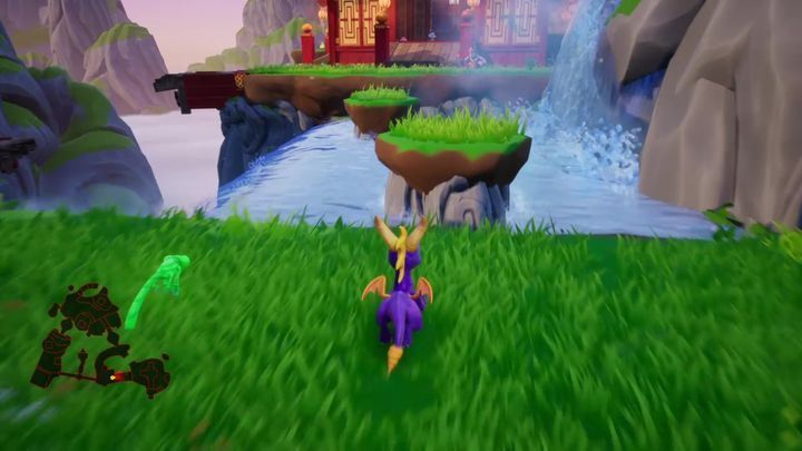 The pathway will lead you to another clearing, one divided by a stream - Bamboo Terrace | Spyro: Year of the Dragon Walkthrough - Midday Gardens - Spyro Reignited Trilogy Guide