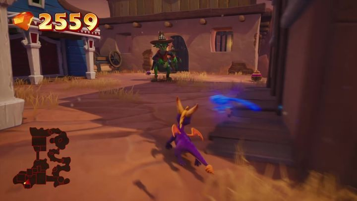 You will enter the prison - Dino Mines | Spyro: Year of the Dragon Walkthrough - Midnight Mountain - Spyro Reignited Trilogy Guide