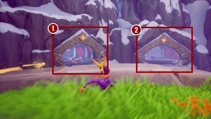 First, however, focus on the bridge located in front of the place that you came from - High Caves | Spyro The Dragon Walkthrough - Magic Crafters - Spyro Reignited Trilogy Guide