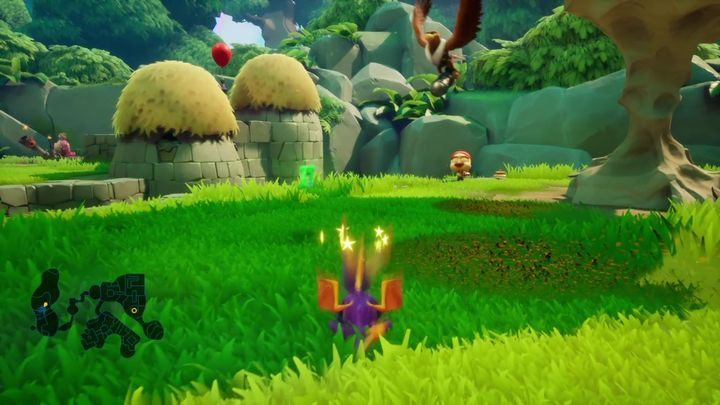 At the end of this clearing, you will find a cannon - Zephyr | Spyro 2 Riptos Rage Walkthrough - Autumn Plains - Spyro Reignited Trilogy Guide