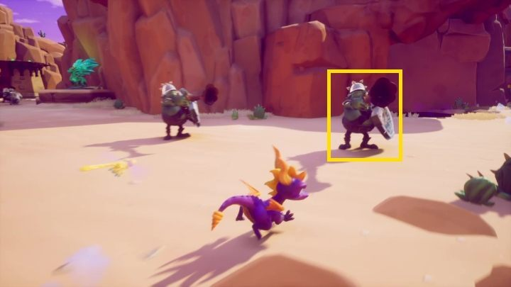 You approach this in two ways - Dry Canyon | Spyro The Dragon Walkthrough - Peace Keeper - Spyro Reignited Trilogy Guide