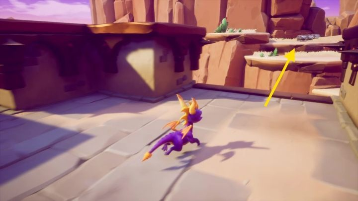 The second option will lead you another set of steps - Dry Canyon | Spyro The Dragon Walkthrough - Peace Keeper - Spyro Reignited Trilogy Guide