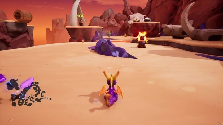 Defeat all enemies and go to the cave - Skelos Badlands | Spyro 2 Riptos Rage Walkthrough - Autumn Plains - Spyro Reignited Trilogy Guide