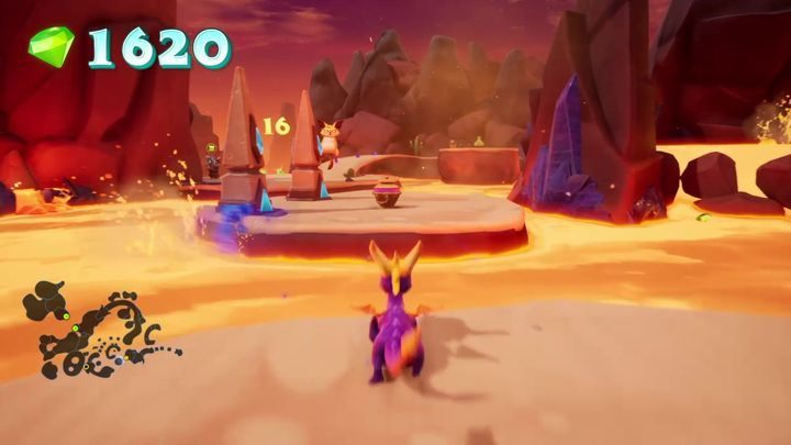 Here you will find a gate of resistance, which will be required to complete one of the challenges - Skelos Badlands | Spyro 2 Riptos Rage Walkthrough - Autumn Plains - Spyro Reignited Trilogy Guide