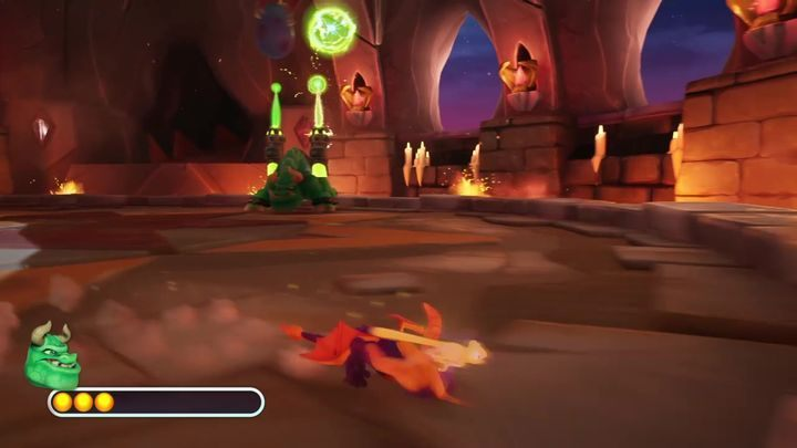 Note that Gulp can also use the resources that were dropped by the pterodactyls - Gulp | Spyro 2: Riptos Rage! Boss Fight - Bosses - Spyro Reignited Trilogy Guide
