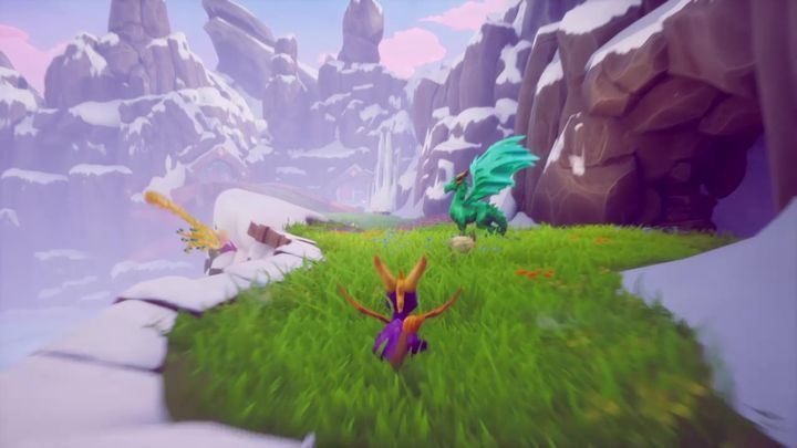 Ajax is right next to the cave with the ramp - Dragons | Secrets & Curios in Spyro Reignited Trilogy - Secrets & Curios - Spyro Reignited Trilogy Guide