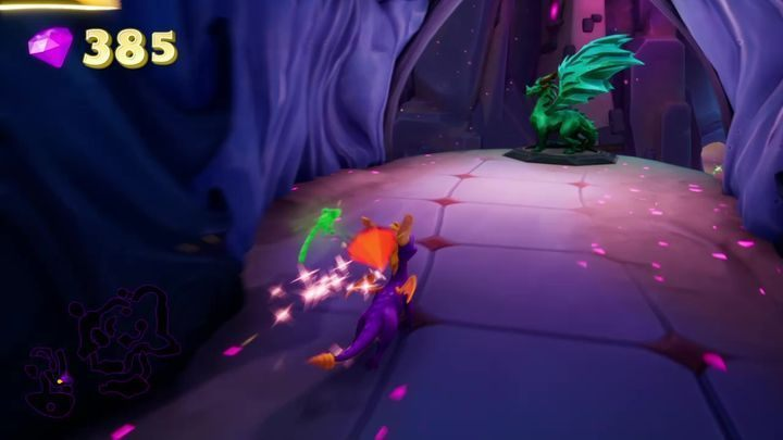 After jumping down from the balcony on which the Apara stands, you will find yourself in the next corridor - Dragons | Secrets & Curios in Spyro Reignited Trilogy - Secrets & Curios - Spyro Reignited Trilogy Guide