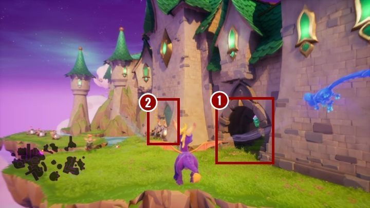 On this island there is a castle with two passages - Dream Weavers | Spyro The Dragon Walkthrough - Dream Weavers - Spyro Reignited Trilogy Guide