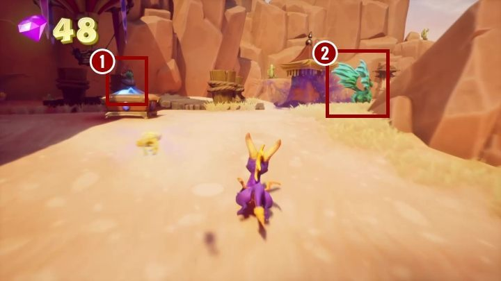 Right next to where you left, you will find the passage to Dry Canyon level - Peace Keeper | Spyro The Dragon Walkthrough - Peace Keeper - Spyro Reignited Trilogy Guide