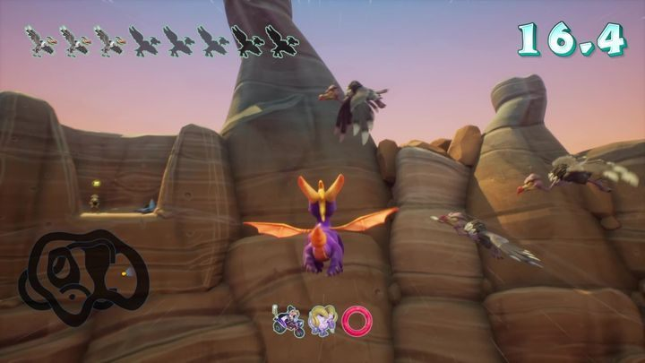 The last biker should appear in the area - Canyon Speedway | Spyro 2 Riptos Rage Walkthrough - Winter Tundra - Spyro Reignited Trilogy Guide