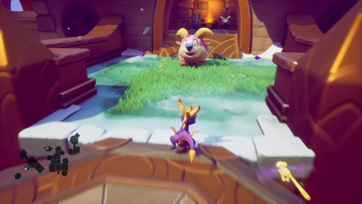 You come across rams encased in stone - Cloud Temples | Spyro 2 Riptos Rage Walkthrough - Winter Tundra - Spyro Reignited Trilogy Guide