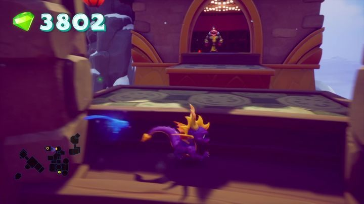 Jump on the ledge and face another Warlock - Cloud Temples | Spyro 2 Riptos Rage Walkthrough - Winter Tundra - Spyro Reignited Trilogy Guide