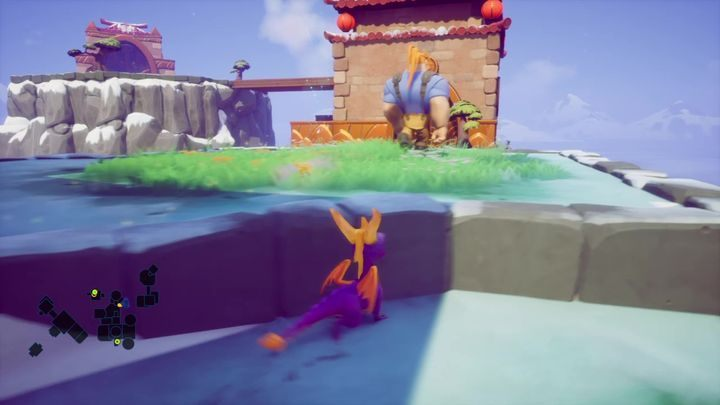 Jump down to reach the area below the temple - Cloud Temples | Spyro 2 Riptos Rage Walkthrough - Winter Tundra - Spyro Reignited Trilogy Guide