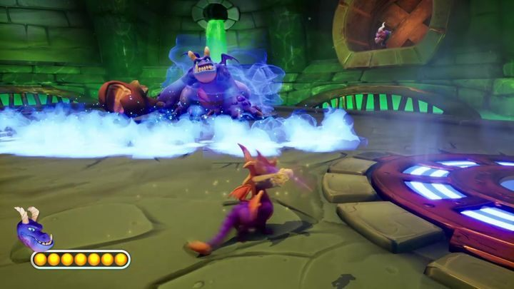 Crush is a rather massive enemy - Crush | Spyro 2: Riptos Rage! Boss Fight - Bosses - Spyro Reignited Trilogy Guide
