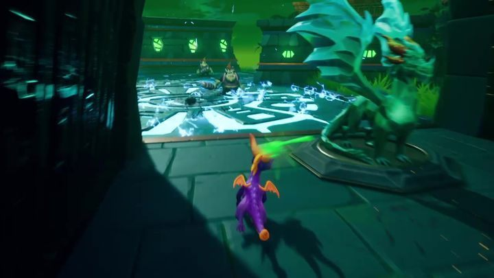 More Electro Gnorcs are on the opposite side - they are standing on plates with water - Terrace Village | Spyro The Dragon Walkthrough - Beast Makers - Spyro Reignited Trilogy Guide