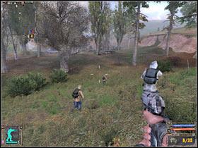 Как только вы доберетесь до лагеря, ваши союзники автоматически начнут стрелять по бандитам - Квесты - Кордон - STALKER: Shadow of Chernobyl - Руководство по игре и прохождение игры