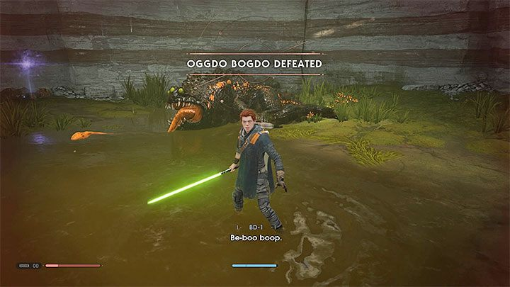 Defeat Oggdo Bogdo to receive experience points - Oggdo Bogdo (Bogano planet) | Fallen Order Boss - Bosses - Star Wars Jedi Fallen Order Guide