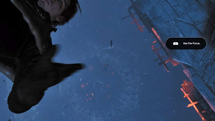 Grab the vertical interactive wall and get to the top - Prologue | Fallen Order Walkthrough - Main Story - Star Wars Jedi Fallen Order Guide