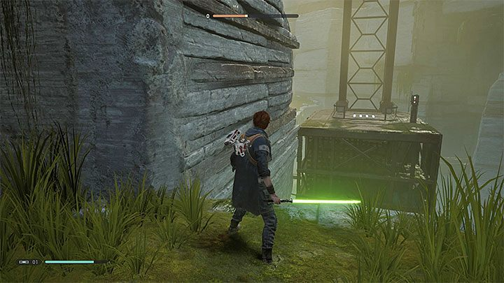 After returning to Bogano, you have to turn around and go to the area from which you came - Chapter 1 Bogano | Fallen Order Walkthrough - Main Story - Star Wars Jedi Fallen Order Guide