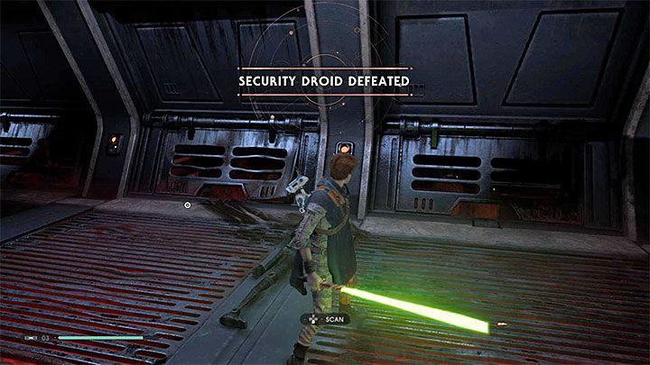 Defeating the boss triggers a cut-scene - Security Droid (Kashyyyk) | Fallen Order Boss - Bosses - Star Wars Jedi Fallen Order Guide