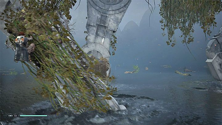Start swimming towards the nearest AT-AT - Chapter 3 Kashyyyk | Fallen Order Walkthrough - Main Story - Star Wars Jedi Fallen Order Guide