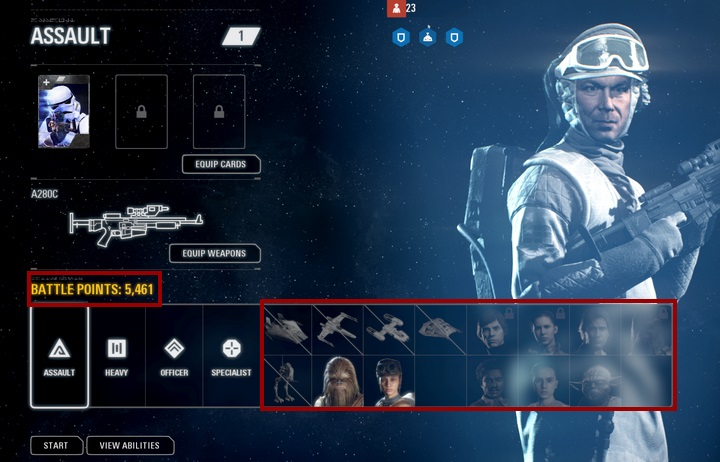 This mode features various heroes and vehicles that you can use by spending battle points. - Game modes - Tips and advise - Star Wars Battlefront 2 Game Guide
