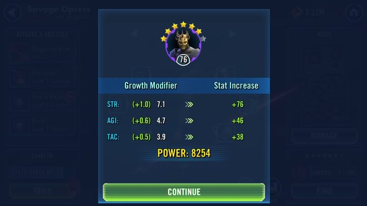 1 - Character stars | Character development - Characters development - Star Wars: Galaxy of Heroes Game Guide