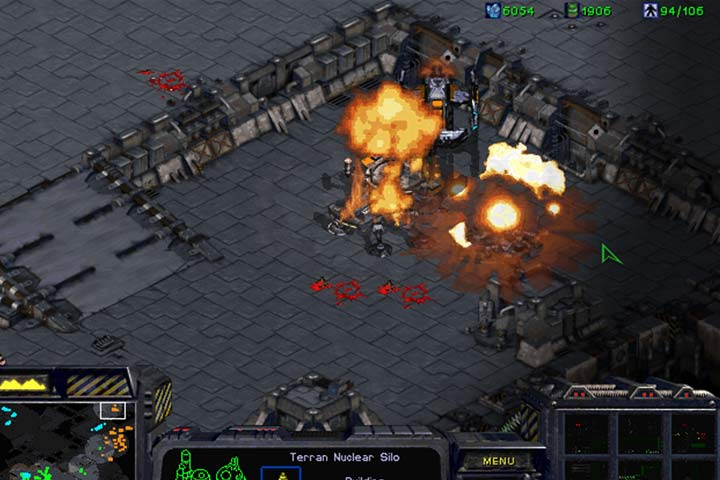 Nuclear Missiles can turn the tide of battle to your advantage. Use Ghosts to operate behind the enemy frontline and destroy the airport in the north. - Mission 8 - The Big Push | Terrans | Campaign Walkthrough - Terrans - StarCraft: Remastered Game Guide