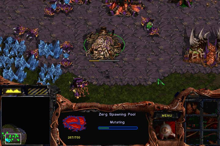 Drones are your basic workforce. Apart from mining, they literally create buildings. During this process, you have to say farewell to the Drone but the building is built faster and can regenerate. Buildings can only be placed on a special goo called the Creep. - Mission 1 - Among the Ruins | Zerg | Campaign Walkthrough - Zerg - StarCraft: Remastered Game Guide