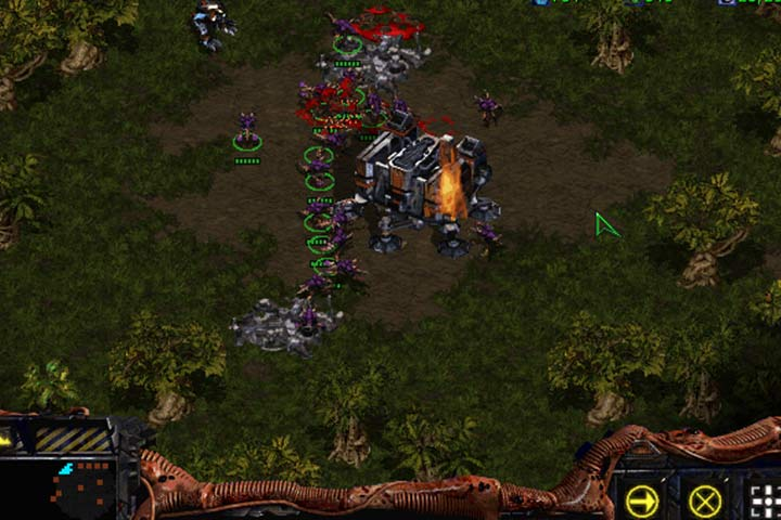 The southern Barracks can be destroyed using just Zerglings. - Mission 1 - Among the Ruins | Zerg | Campaign Walkthrough - Zerg - StarCraft: Remastered Game Guide