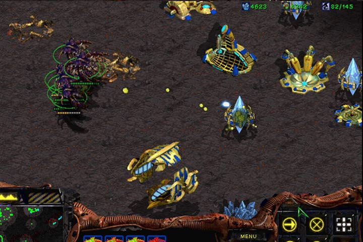 A group of Guardian bombers can easily deal with lesser groups of hostiles and fortifications, but they are completely defenseless against enemy fighters. Keep a Mutalisk squad in reserve. - Mission 6 - The Dark Templar | Zerg | Campaign Walkthrough - Zerg - StarCraft: Remastered Game Guide
