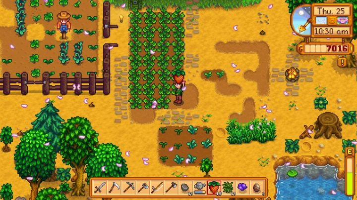 20 Hints For Starters Quick Start Stardew Valley Game Guide Gamepressure Com The perfect lines of beautifully organized fruit trees will produce plenty of fruit, which can be put into the masses of kegs arranged at the top of the space. quick start stardew valley game guide